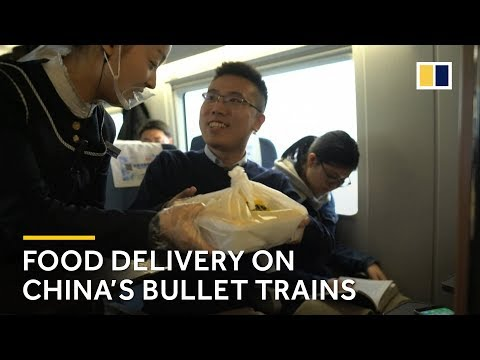 China high-speed train: food deliveries come right to your seat