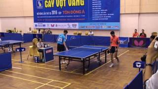 Đinh Quang Linh ( Linh muối ) vs Leong Chee Feng (MAS) - Giải bóng bàn quốc tế Cây Vợt Vàng năm 2016