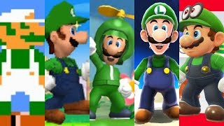 Evolution of Luigi in Super Mario Games