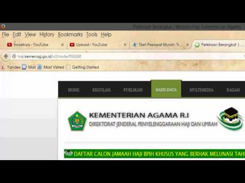 Video info estimasi haji