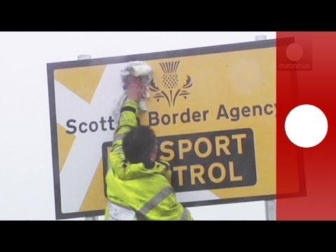 Watch: Jokers set up fake passport checkpoint on UK-Scotland border