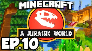 Jurassic World: Minecraft Modded Survival Ep.10 - DINOSAUR EGGS!!! (Rexxit Modpack)