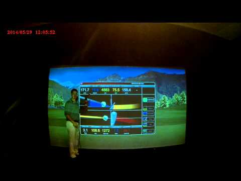 Chad Coleman explaining the Full Swing Golf Simulator Technology 3