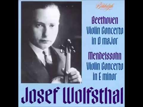 Mendelssohn Violin Concerto - Josef Wolfsthal