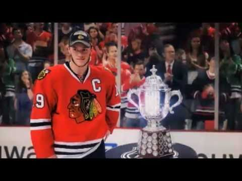 """Blackhawks Banner Raising Scoreboard Video - """"With or Without You"""""""