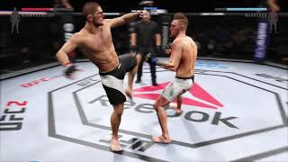 Violent fight between Khabib Nurmagomedov VS Conor McGregor // EA SPORTS™ UFC® 2