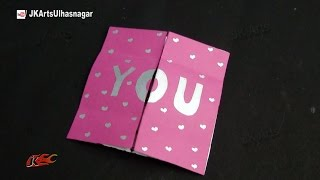 Easy Endless Love Valentine Card Tutorial | How To Make | JK Arts  874