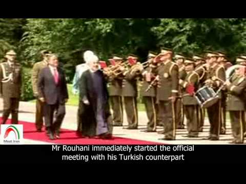[English sub]. Rouhani in Ankara to discuss gas export to Europe via Turkey.