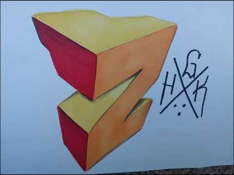 abecedario graffiti 3d