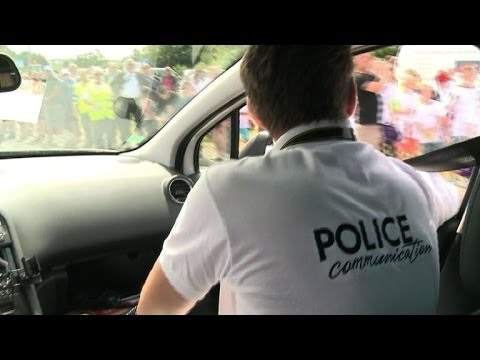 French police make their own Tour de France