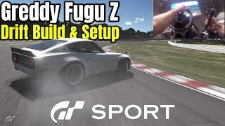 Gran Turismo Sport : Greddy Fugu Z | Drift Build & Setup | Wheel Cam