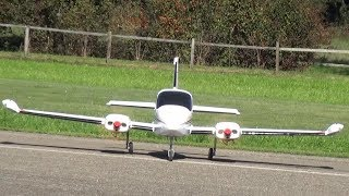Cessna 310 Turbo twin Engine Big Radio controlled RC Airplane Hausen RC Event 2017 Switzerland