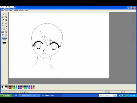 Programs For Anime Drawing Draw Anime Using ms Paint