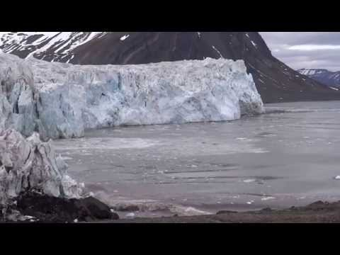 Glacier Calving in the Arctic, Svalbard Islands