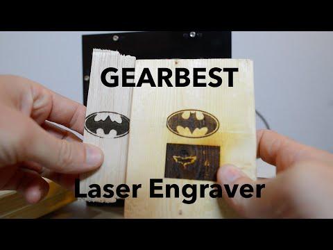 LASER ENGRAVER SETUP/REVIEW - NEJE DK-8-KZ 1000mW