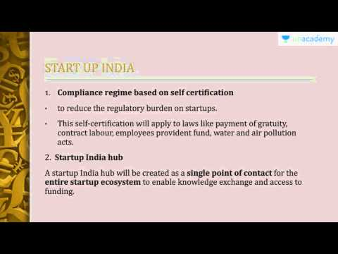 Current affairs for UPSC:  Innovation And Entrepreneurship Schemes: Startup India Standup India