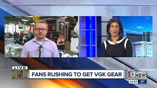 Stores selling Vegas Golden Knights championship gear after Sunday's historic win