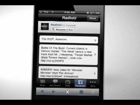 RadioU app for iOS