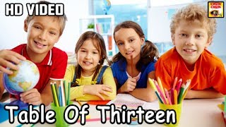 Learn Table of 13 | 13 x 1 = 13 | Learn Multiplication | Table Of Thirteen | Fun & Learn Video |