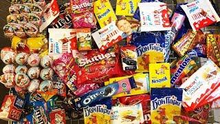 A Lot Of Candy 2018 NEW #47 Киндер Сюрпризы Маша и Медведь Черепашки Ниндзя, Очень много сладостей!