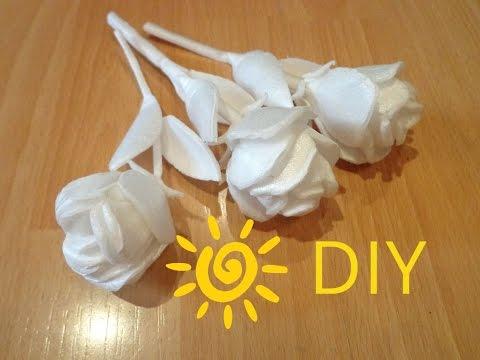 Как сделать розу  из потолочного плинтуса.DIY How to make a rose with your hands