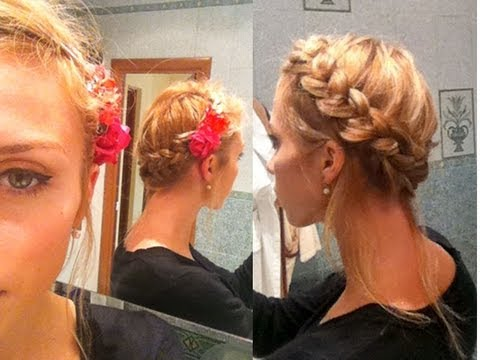 Коса вокруг головы, вариации и
