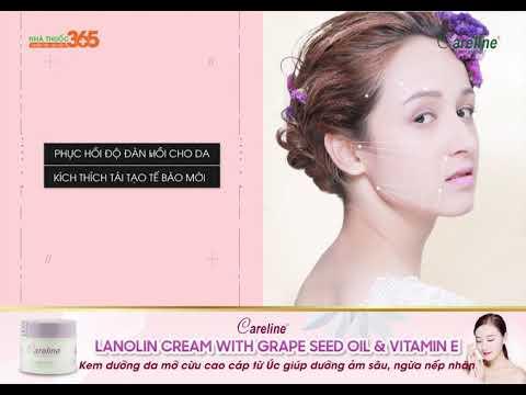 Careline Lanonin Cream with Grape Seed Oil & Vitamin E - Kem dưỡng da mỡ cừu cao cấp từ Úc giúp dưỡng ẩm sâu, ngăn ngừa nếp nhăn