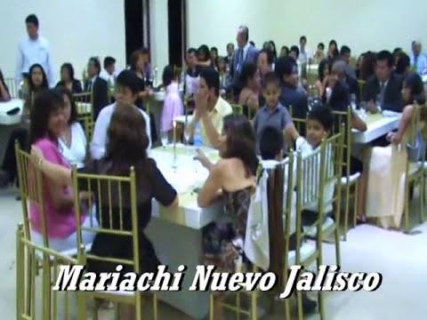 CANCION DE BODA - MARIACHI NUEVO JALISCO - BODAS DE ORO - TELEFONOS: 5681512 - 989993475