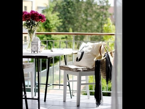 6 id es pour am nager son balcon youtube. Black Bedroom Furniture Sets. Home Design Ideas
