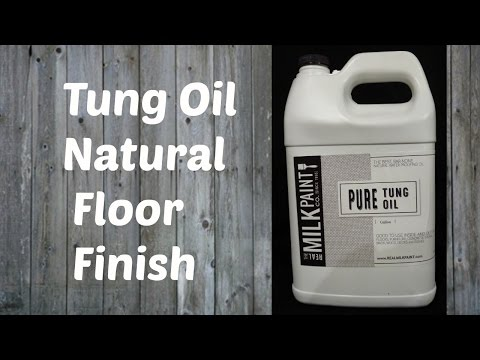 Tung Oil -Finishing/Refinishing a Wood Floor with Tung Oil