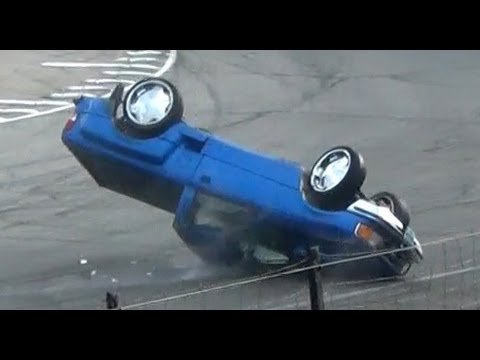 Truck Crash (Rollover) at Spectator Drags