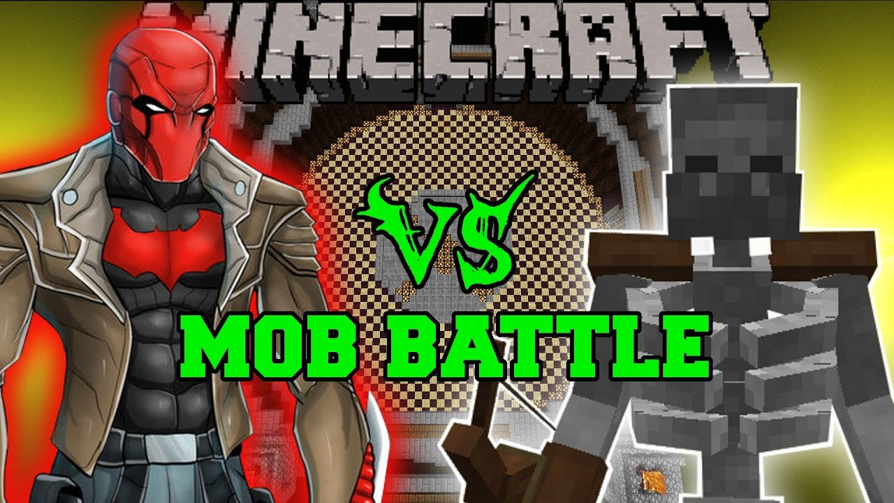 mutant skeleton vs red hood - minecraft mod battle - mob battles