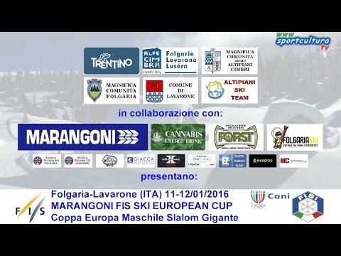 Marangoni FIS SKI European Cup slalom gigante maschile 1° manche #sport #live #sci