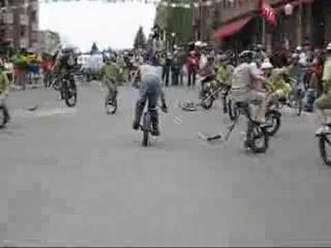 Unicycle Hockey Video