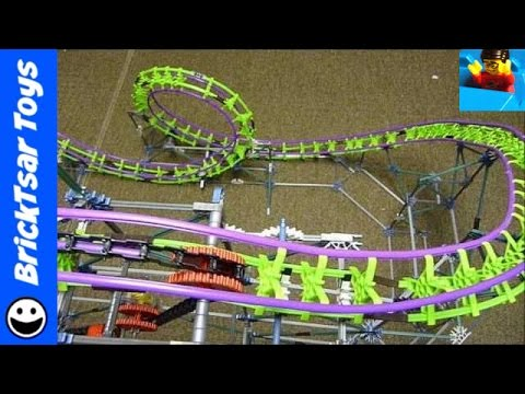 Vintage Knex Screamin Serpent Roller Coaster - Working with sound