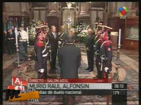 Velatorio de Raul Alfonsin