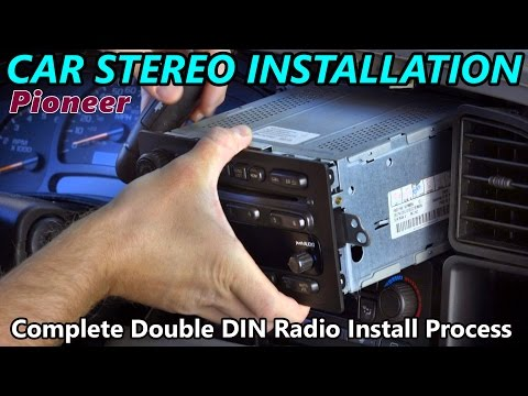 Full Double DIN Car Stereo Installation -  Retain Steering Wheel Control. Onstar