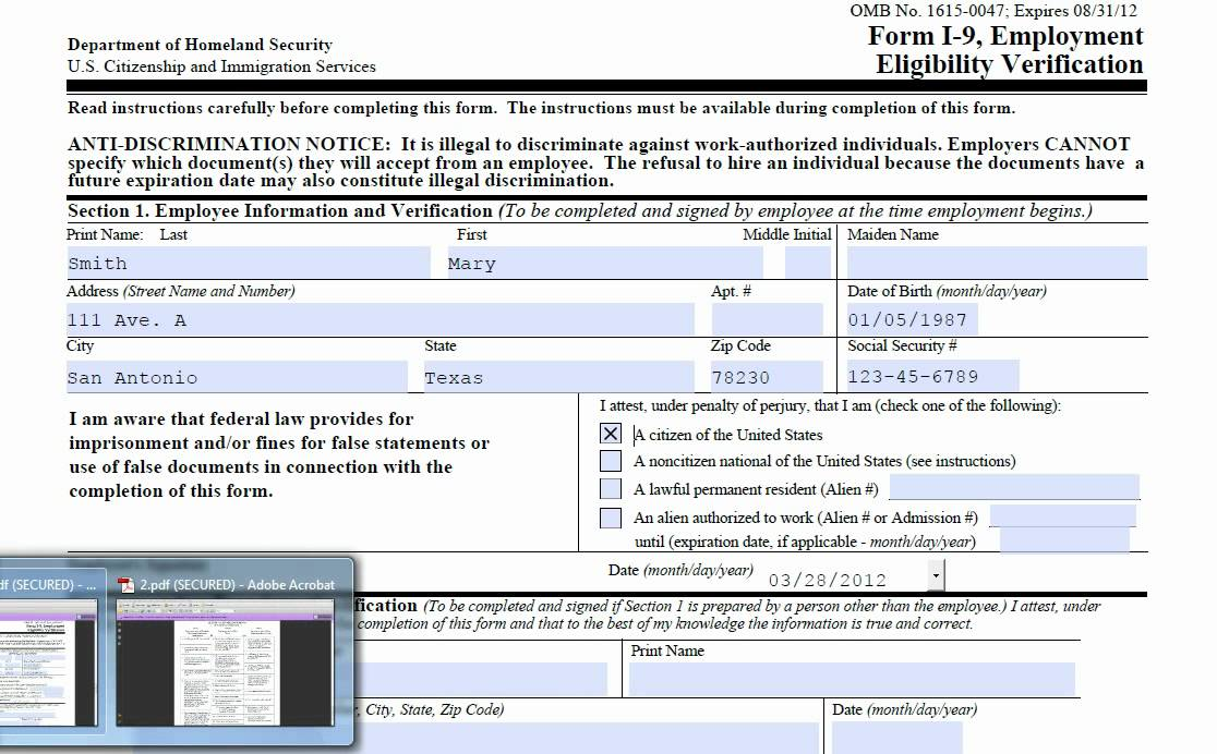 Florida New Hire Reporting Form Fillable