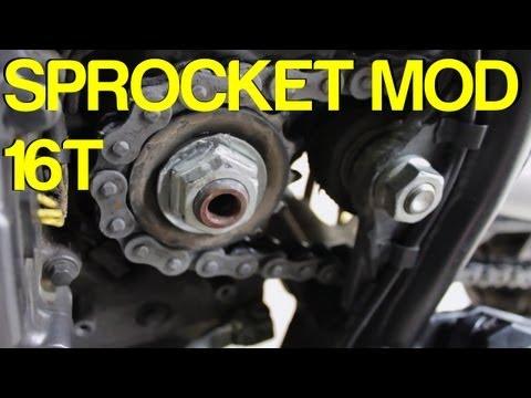 How To: KLR 16T Sprocket Mod