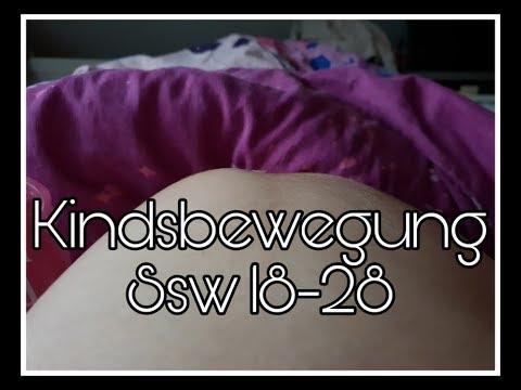 Kindsbewegung 18-28 SSW | Baby bricht aus ! || Schwanger mit 18