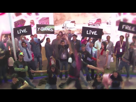 Flash Mob at AutoExpo 2014