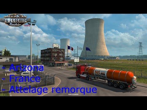 American Truck Simulator News   Arizona   Nouveau attelage de remorque   DLC France
