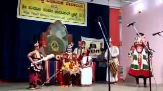Yakshagana - Sagar Dongre performing as Shanmukha in one of the Yakshagana