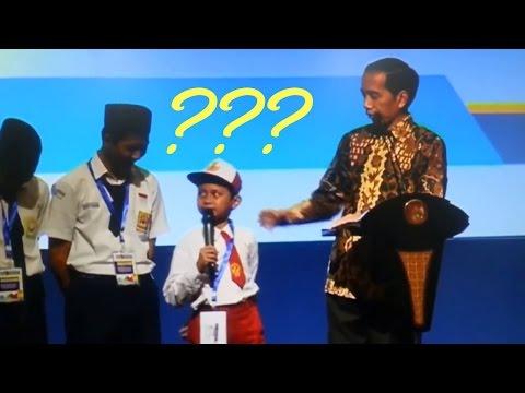 Anak SD Bilang Ikan Tongkol depan Jokowi