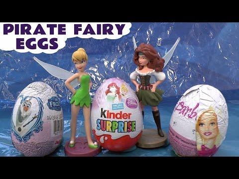 The Pirate Fairy Surprise Eggs Disney Princess Sofia Thomas And Friends Frozen Barbie Hello Kitty video