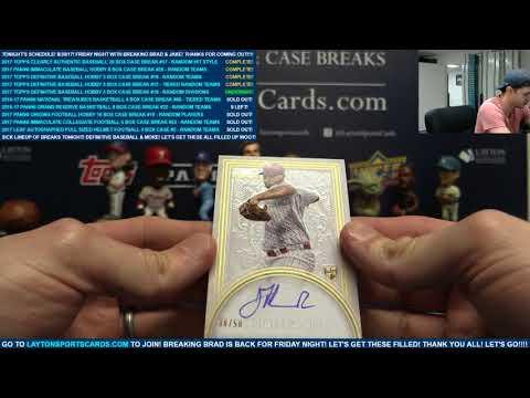 2017 Topps Definitive Baseball Hobby 3 Box Case Break #18 – RANDOM DIVISIONS
