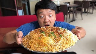 MASSIVE BIRYANI (Spicy Rice) & Insane Chicken Kebab in Hyderabad India