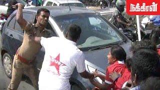 கொலைவெறி  போலீஸ்..? Police Violent attack on DYFI activists for protest against MODI