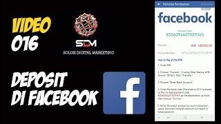 Video 02 SDM - Cara Menambahkan Deposit Uang Di Akun Facebook