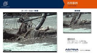 ハイスピードカメラ「自転車の泥跳ねの瞬間 」
